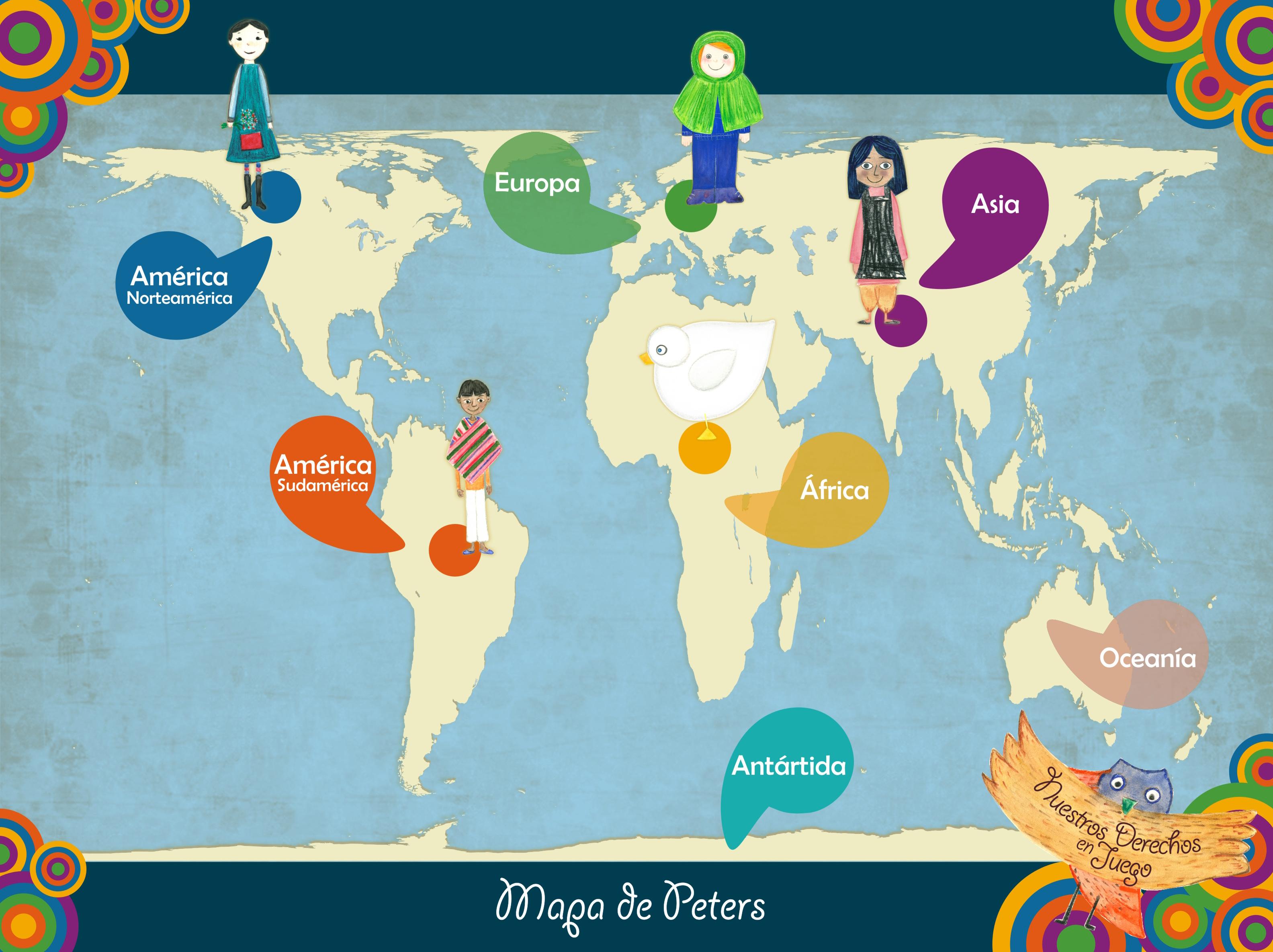 Nuestros Derechos En Juego Derechos Humanos En Educación Infantil - America mapa juego